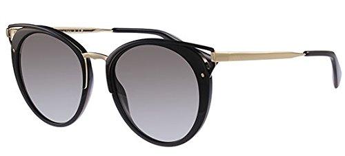 Prada Sunglasses Round - Prada PR66TS 1AB0A7 Black PR66TS Round