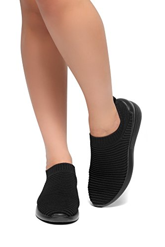 Herstyle Charlie Mode Easy Walk Instapper Vlieg Lichtgewicht Recreatieve Comfortschoenen Sneakers Zwart