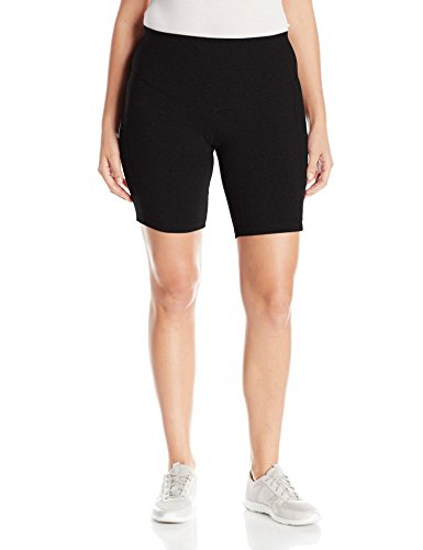 Rainbeau Curves Women's Plus Size Basix Compression Bike Short, Black, 14/16