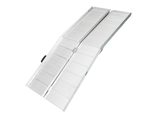 Enjoi 2ft/3ft/6ft/8ft Aluminum Wheelchair Ramp Scooter Gateway Access Loading Stair Threshold Ramps (Rollup Wheelchair Ramps)