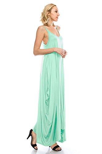 Peppermint Maxi Spagetti Style Size Doe Dress Boho Loose Women's Full Strap Fit 5X S Harem Solid J 8avUq