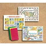Hoffmaster 901-MP1 Dollarwise Everyday Facts and Fun Printed Placemat - Multipacks, 10 x 14 inch -- 1000 per case.