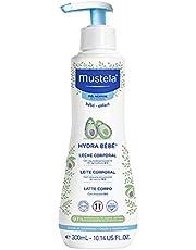 Hydra Bebê com Abacate Orgânico Mustela, Hidratante Corporal Infantil, 97% de Ingredientes de Origem Natural, 300Ml, Mustela Bebê, 300 Ml