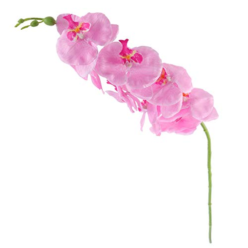 - ULTNICE Simulation Butterfly Orchid Artificial Flower Plant Home Decoration (Pink)