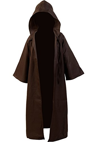 CosplaySky Star Wars Costume Jedi Robe OBI Wan Cloak Halloween Cosplay Kids Version