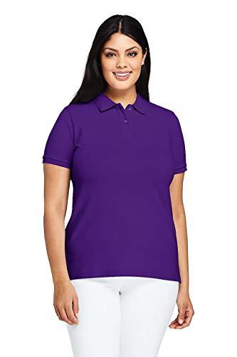 (Lands' End Women's Plus Size Mesh Cotton Polo Shirt Short)