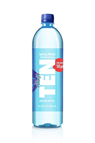 Alkalife TEN Alkaline Spring Water, pH 10, High in Electrolytes, 16.9 Ounce Bottle (Pack of 24)