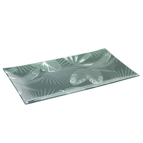 Hogar Deco Centro de Mesa Comedor y Salon Decorativo Cristal Verde 40 cm