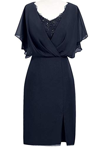 WHZZ Womens Mother of The Bride Dresses Short Formal Dresses Lace Evening Gowns Navy