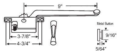 (STB Casement Window Operator, Left Hand, Face Mount, Bronze, 9