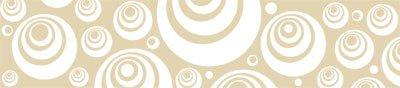 Wandtattoo Wanddeko für Wohnzimmer Ideen Wandverzierung Retro Kreise Dots (137x30cm//082 beige)