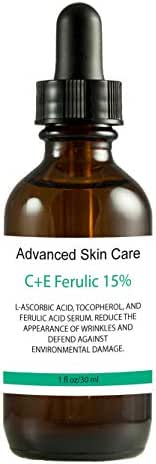 15% Vitamin C and Vitamin E serum with Ferulic Acid, Skin Brightening, Collagen boosting, fights hyperpigmentation, boosts collagen, fades dark spots (2 oz)