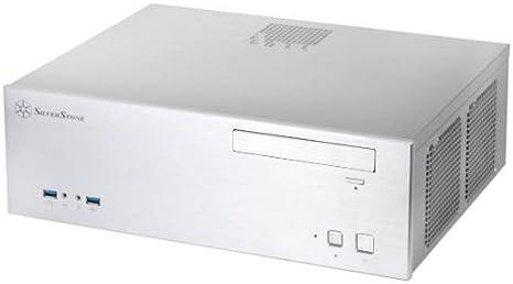Silverstone SST-GD04S HTPC Blanco - Caja de Ordenador (HTPC, PC, Aluminio, SECC, Blanco, DTX,Micro ATX,Mini-ITX, 1x 120 mm,2X 120 mm): Amazon.es: Informática