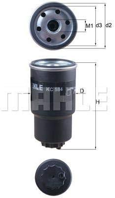 MAHLE Kraftstofffilter KC 584