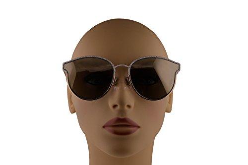 8cafb0a1d4 Christian Dior DiorSymmetric Sunglasses White Marble Gold w Ivory Mirror  Lens 59mm GBZQV DiorSymmetrics DiorSymmetric