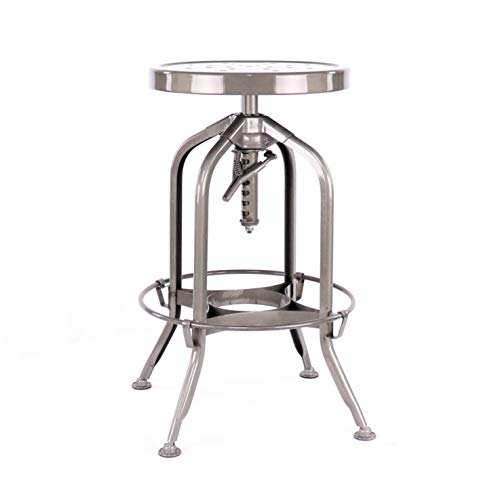 Design Lab MN Toledo Adjustable Barstool, Gunmetal