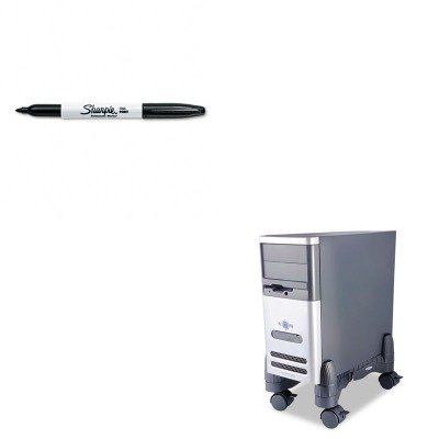 KITKTKCS200BSAN30001 - Value Kit - Kantek Mobile CPU Stand (KTKCS200B) and Sharpie Permanent Marker (SAN30001)