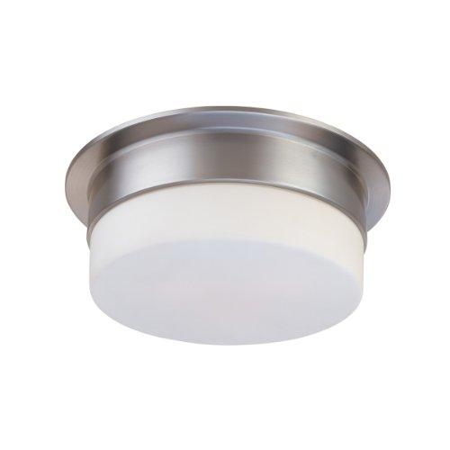 (Sonneman 3741.13, Flange Round Tall Flush Mount Ceiling Lighting, 1 Light LED, Satin Nickel)