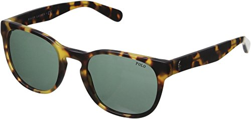 Polo Ralph Lauren Men's 0PH4099 Round Sunglasses, Vintage Havana Spotty, 52 - Ralph Havana Lauren Sunglasses