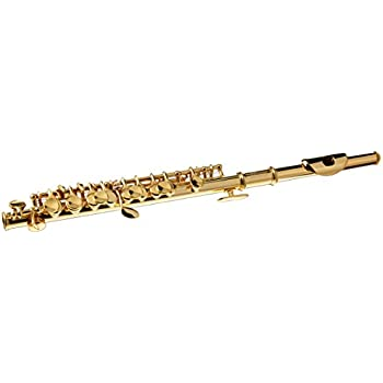 Sky Band Approved Silver Plated with Gold Keys Piccolo Key of C with Hard Case, Cloth, Cleaning Rod, Joint Grease and Screw Driver, Guarantee Top Quality Sound