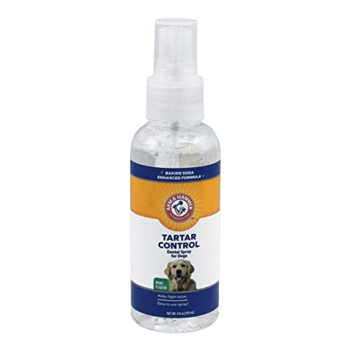Arm & Hammer Dog Dental Care Tartar Control Dental Spray for Dogs | Reduces Plaque & Tartar Buildup Without Brushing, 4 oz, Mint - Oral Spray Care