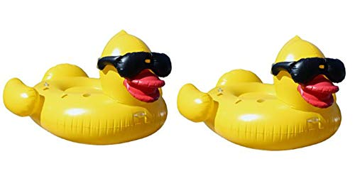 GAME Giant Inflatable Derby Duck (2) Swimming Pool Toy, 2 Pack: Derby Duck, 2-Pack