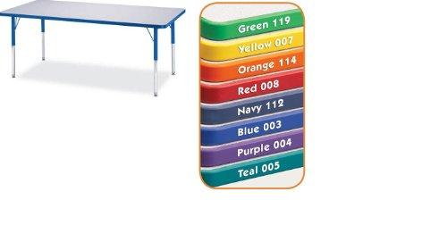 Cheap Kydz Activity Table 30″ X 48″ Rectangle/Gray Top / Orange Edge/Adult Height