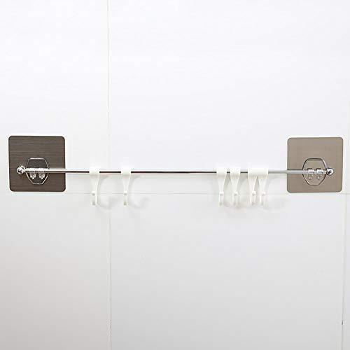 Estante de almacenamiento montado en la pared para baño, de acero inoxidable, organizador de utensilios de cocina…