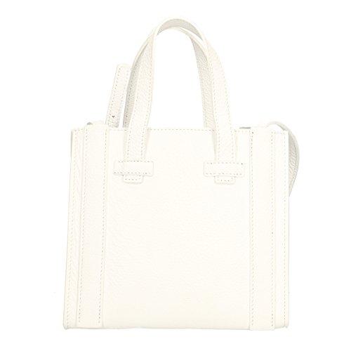 Bianco Chicca Di Sacchetto Cm Vera 23x20x13 Borse Pelle In rqXTAr