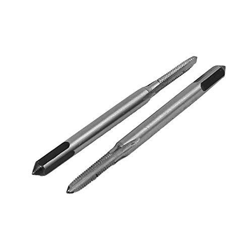 DealMux 10 piezas de cabeza cuadrada HSS 1.2mm 3-flauta de husillo de rosca Tap