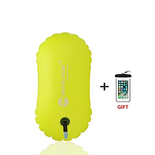 Jansite Swimming Buoy Open Water Inflatable Swim Bubble Float for Swimmers, Triathletes, Snorkelers, and Safe Swim