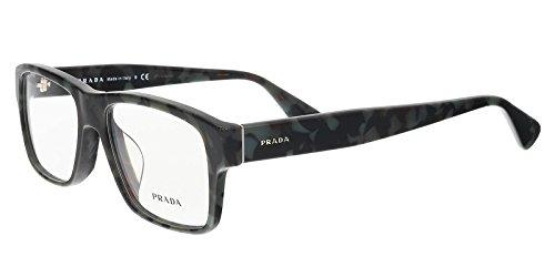 Prada PR17SVF Eyeglass Frames UEM1O1-55 - Spotted Brown Green