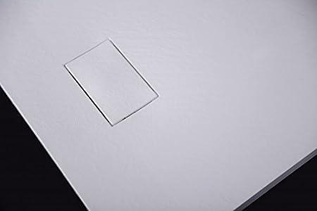dimensions et accessoires s/électionnables Dimension receveur de douche:80x80cm Bonde et syst/ème d /évacuation:Avec syst/ème d/évacuation 3,7 cm de hauteur Receveur de douche rectangulaire en SMC