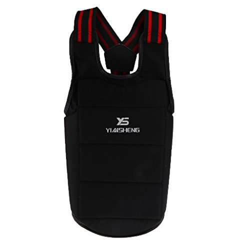 LEIPUPA Boxing Body Protector MMA Muay Thai Karate Taekwondo Sparring Gear Equipment for Chest Body Protection – Select…