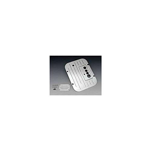 Eckler's Premier Quality Products 57-162713 Chevy Firewall Plate, Bowtie Ribbed Billet Aluminum, With Vintage Air,