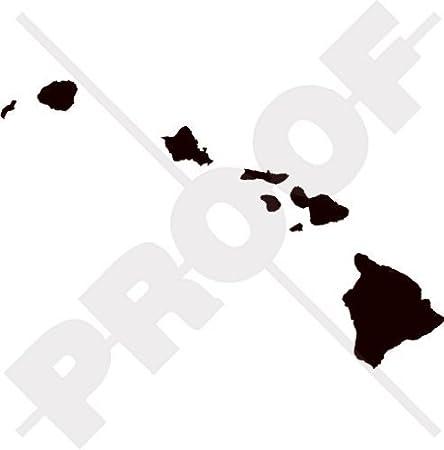 Hawaii Kartenform Hawaiian Silhouette Usa 200mm Auto Motorrad Aufkleber Vinyl Stickers Wahl Von 22 Farben Garten