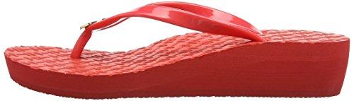 Hilfiger Wedge Tommy 8r Women's Heels Sandals Mona 255 Red Red BgWWnqv