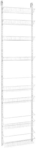 "ClosetMaid 1233 Adjustable 8-Tier Wall and Door Rack, 18"","