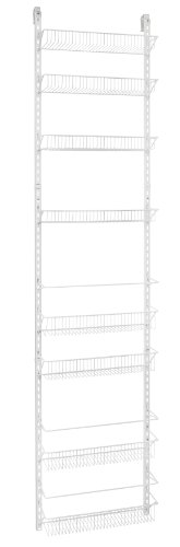 ClosetMaid 1233 Adjustable 8-Tier Wall and Door Rack, 76-Inch Height X 18-Inch Wide