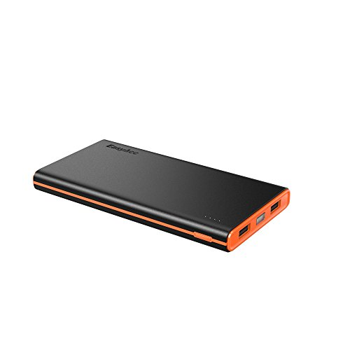 - EasyAcc 10000mAh Power Bank Brilliant External Battery Pack (3.1A Smart Output) Classic Portable Charger for iPhone Samsung Smartphones Tablets - Black and Orange