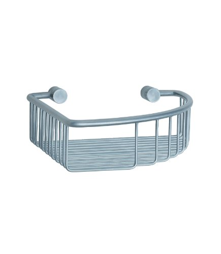 - Studio Corner Soap Basket Finish: Brushed Chrome