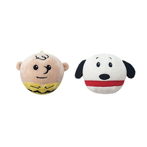 Peanuts Fluffball Ornament 2 Pack - Charlie Brown and Snoopy ()