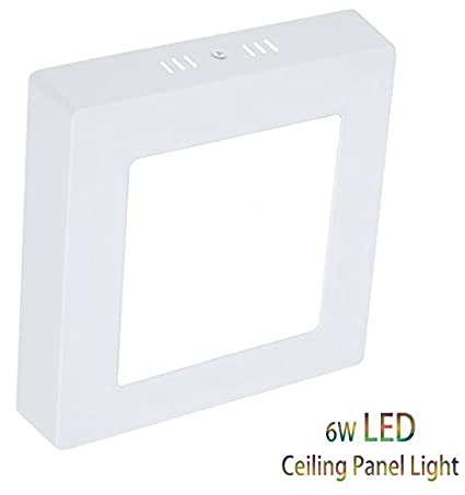 4 72 Led Flush Mount Ceiling Light Square Surface Panel Lamp 6w 480lm 6000k Cool White For Indoor Stairs Living Room Hallway Pantry