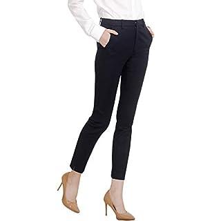 Marycrafts Women's Work Ankle Dress Pants Trousers Slacks (M, Black 1)