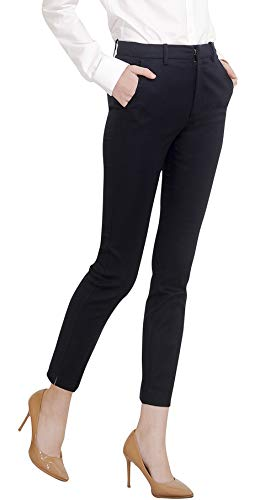 Pants Slacks Dress - Marycrafts Women's Work Ankle Dress Pants Trousers Slacks Black 1 M New