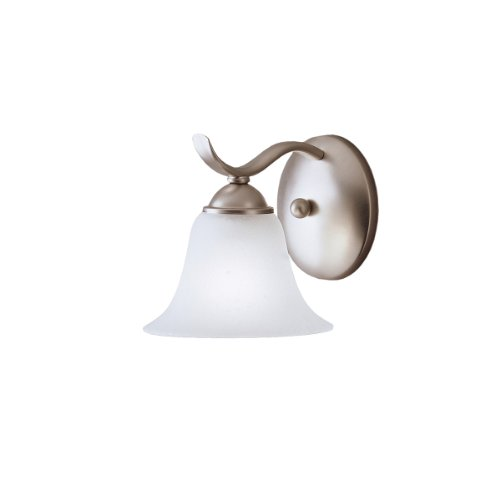1 Light Candle Wall Sconce - Kichler 6719NI Dover Wall Sconce 1-Light, Brushed Nickel