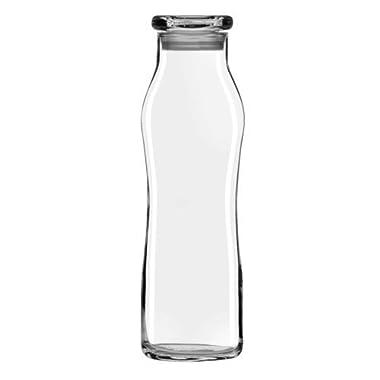 Libbey Glass 22 Oz. Hydration Decanter Carafe Bottle w/ Lid - Swerve Cylinder