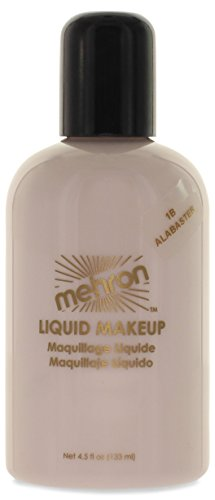 Mehron Makeup Liquid Face and Body Paint (4.5 oz) (ALABASTER)