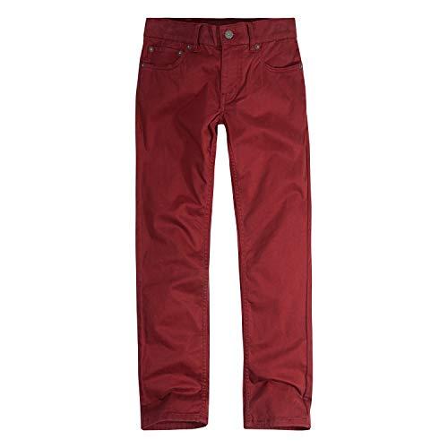 Levi's Boys' Little 511 Slim Fit Soft Brushed Pants, Syrah, 7X