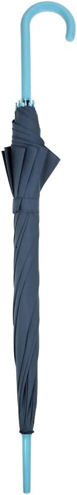 Bonita colecci/ón de paraguas b/ásicos confeccionada en 12 nuevos colores Esta l/ínea cuenta con sistema antiviento y con apertura autom/ática Azul Las varillas se fabrican en fibra de vidrio.